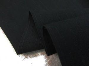 コットン 生地 紬クロス 黒 150cm幅 [MU1077]