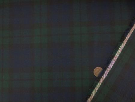 チェック 生地 ヘビーネル チェック起毛 ブラックウオッチ 110cm幅 [FC872]