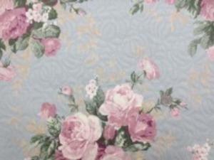 YUWA フクレジャガード すごくいい色合いと風合いの フクレジャガードの花柄です。 薄い色合いのブルーグレイ