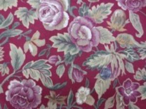 YUWA 11号帆布 プリント ソフト加工で柔らかい風合い 色合いも洗ったような感じのやさしい 色合いです。 ダークレッド地