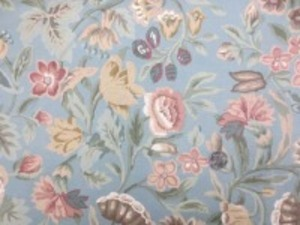YUWA 11号帆布 プリント ソフト加工で柔らかい風合い 色合いも洗ったような感じのやさしい 色合いです。 ブルーグレイ地