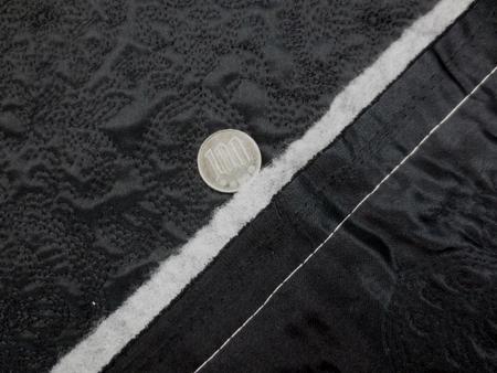 キルト 生地 ポリエステル 刺繍キルト 黒 100cm幅 [QT123]