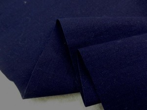 藍染 生地 平織 本藍染 濃紺 90cm幅 [DE2086]