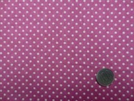 綿麻キャンバスのドットプリント 生成ドット/少しくすんだピンク地 オックスくらいの厚さの生地 ドットの大きさ 3mm