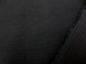 10オンスデニムのような 少し厚手の綾織りストレッチ 黒 柔らかくいい風合いです。