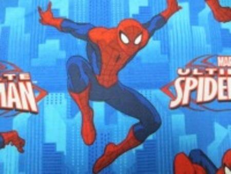 スパイダーマン 生地 SPIDERMAN USAコットン ブルー  [PT4246]