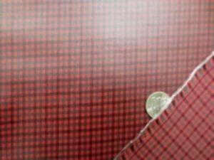 ビニールコーティング  シーティングくらいの厚さの綿の Fチェック 赤にコーティング チェックの大きさ 8mm