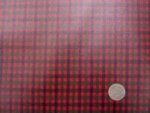 ビニールコーティング  シーティングくらいの厚さの綿の Fチェックにコーティング チェックの大きさ 1.5cm