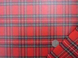 ビニールコーティング  タータンチェック 赤地 綾織りのロイヤルスチュアート しっかりしてすごく風合いいいです。
