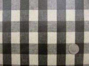 綿麻 20mmギンガムチェック 黒のビニールコーティング 人気のAS553のビニール加工です。