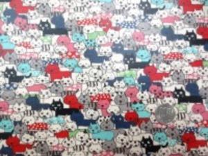 コットンこばやし 綿麻キャンバス ネコ ねこ 猫 ビニールコーティング