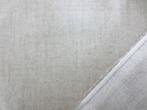 リネン 生地 ラミネート 生成 麻カラー 青耳 ビニールコーティング 147cm幅 [BN485]
