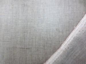 リネン 生地 ラミネート 生成 麻カラー 赤耳 ビニールコーティング 150cm幅 [BN342]