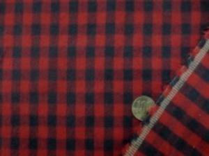 厚手のネル ギンガムチェック 濃紺(すごく濃い紺)/ダークレッド 両面起毛で、肌触りのいい 柔らかい風合い チェックの大きさ 8mm