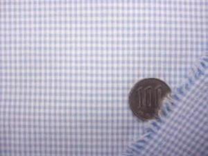 チェック 生地 TC ギンガムチェック ブルー 1.5mm [GC318]