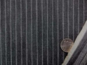 ヒッコリーストライプ 9オンスデニムくらいの厚さの生地 オフ白/黒 オフ白部分の幅 1mm 黒部分の幅 8mm