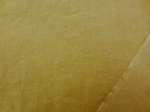 麻の混率の高い 綿麻シーティング  ダークなブラウンがかったマスタード エアタンブラー ワッシャーで リネンの風合いを残して 柔らかいとてもいい風合いです。