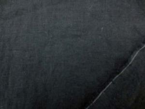 麻の混率の高い 綿麻シーティング 黒 エアタンブラー ワッシャーで リネンの風合いを残して 柔らかいとてもいい風合いです。