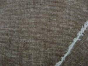 ブラウン 麻の混率の高い綿麻無地 何にでも使いやすい厚さ ギンガムシリーズと同じ色の先染無地