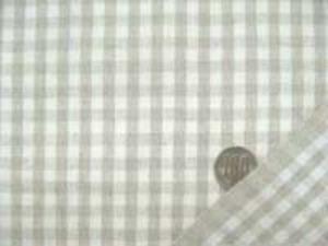 麻の混率の高い綿麻ギンガムチェック 何にでも使いやすい厚さ チェックの大きさ 6mm 麻カラー/生成