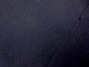ウールソフトフラノ 濃紺 すごく濃い紺で、柔らかい風合いです。