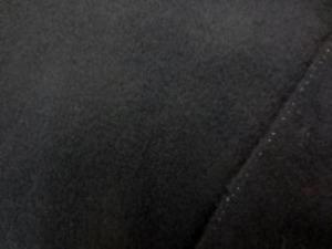 ウールソフトフラノ 黒 柔らかい風合いです。
