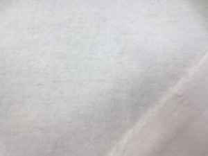 平織るの両面起毛 オフ白 柔らかい風合いのネルタイプ 綿100%