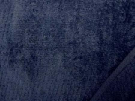 シャーリングタオル 紺 普通のタオルのループをカット ふわふわして肌ざわりいいです。