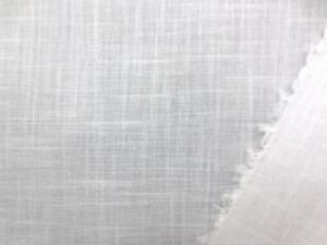 綿麻スラブガーゼ 白 薄手の透け感のある柔らかい風合い