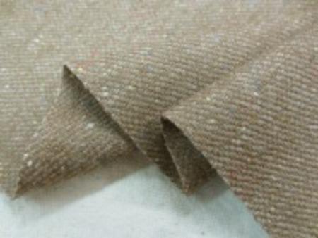 ウール カラーネップツイードタイプ 綾織りのブラウンベージュ 柔らかく、肌触りのいい風合いです。