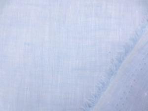 フレンチリネンくらいの厚さの 先染めリネン ブルー 肌触りのいい柔らかい風合い