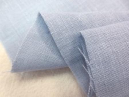 60Sフレンチリネン サックス すこし濃いブルー ヨーロッパリネンより少し薄手のリネン 柔らかい風合い
