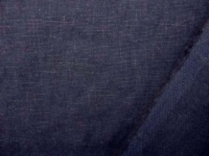 リネン 生地 ヨーロッパリネン 洗い加工 濃紺 [AS707]