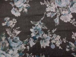 YUWA リネンプリント  エアタンブラーワッシャー こうのさなえ 濃い色合いのカーキブラウン地 柔らかい風合い