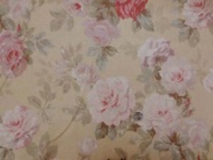 YUWA リネンプリント  エアタンブラーワッシャー ベージュ地 20色使った優れものです。 柔らかい風合い