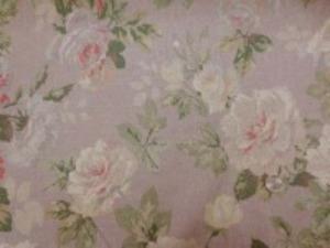 YUWA リネンプリント  エアタンブラーワッシャー グレイがかった薄いブラウン地 20色使った優れものです。 柔らかい風合い