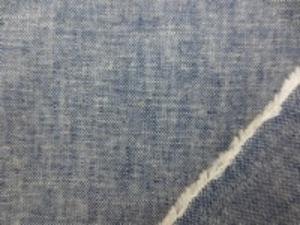 麻の混率の高い 綿麻インディゴダンガリー 濃紺