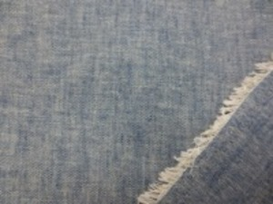 麻の混率の高い 綿麻インディゴダンガリー フェイド 少し色をおとした感じの紺