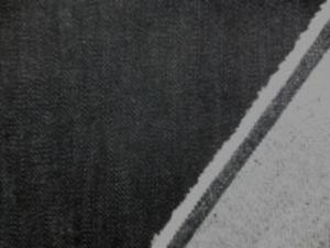 9オンスくらいのストレッチデニム 黒 裏起毛 あまり伸びません。