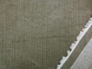 10オンスくらいのストレッチデニム ムラ糸の少しブラウンががったカーキ 洗い加工 洗い加工で柔らかい風合い
