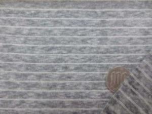 ニットボーダー オフ白/杢グレイ オフ白部分の幅 1mm  グレイ部分の幅 7mm