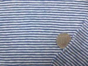 薄手のボーダーニット すごくよく伸びます 白/紺 白部分の幅 1.5mm 紺部分の幅 1.5mm