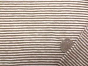薄手のボーダーニット すごくよく伸びます ブラウン/生成(少しオフ白っぽい) 生成部分の幅 1.5mm ブラウン部分の幅 1.5mm
