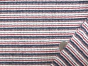 ボーダーリブニット 柔らかい風合いで、すごくよく伸びます レンガっぽいダークレッド モスグリーン グレイ ネイビー オフ白カラー オフ白部分の幅 3mm