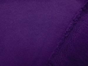 裏毛トレーナー地  濃パープルの裏起毛 柔らかい風合いですが、 あまり伸びません。