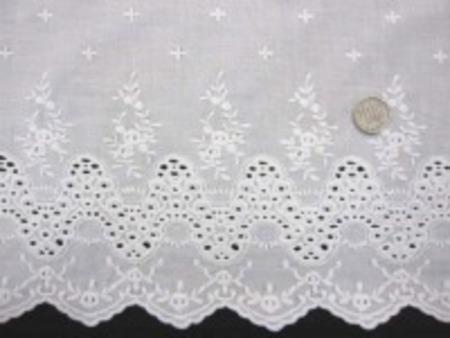 レース 生地 スカラップレース 白 108cm巾 [LA409]