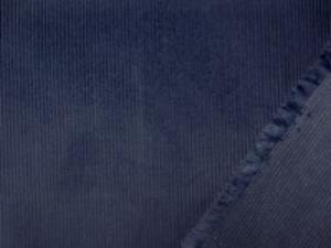 しっかりした細畝のコール天 細畝でも少し厚手です。 ネイビーブルー ブルーがっかた紺色 落ち着いた色あいの明るめの紺 畝幅1.5mm