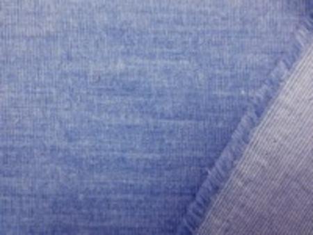 極細畝のシャツコール 柔らかい風合いの杢ブルー 畝幅1mm