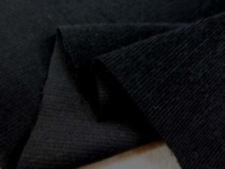 極細畝の柔らかい風合いの コール天ストレッチ  黒 畝幅0.5mm