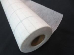 不織布 方眼入り 型紙用不織布 50m巻き [UR484] (方眼入り)